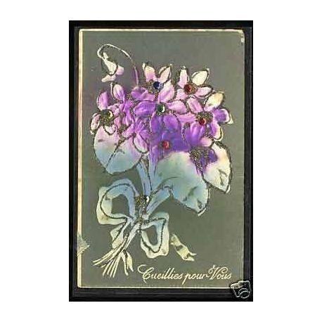 Fleurs cueillies pour vous - Carte en relief