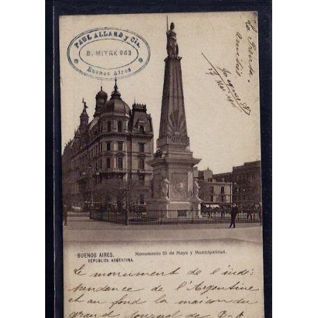 Argentine - Buenos Aires - Monumento 25 de Mayo y Municipalidad