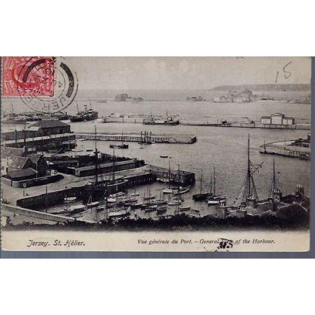 Jersey - St. Helier - Vue generale du port