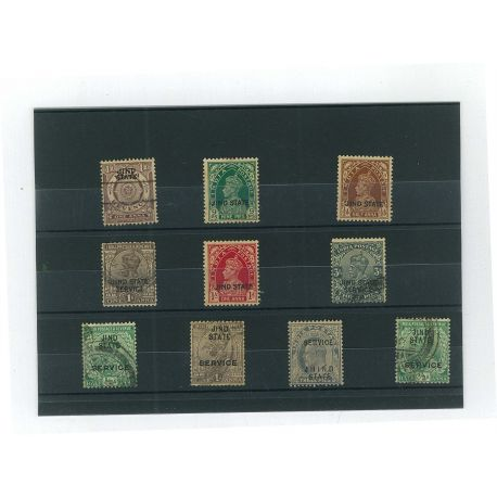 Jind - 10 verschiedene Briefmarken