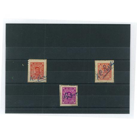 Jobat - 3 verschiedene Briefmarken