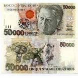 Banknoten Sammlung Brasilien Pick Nummer 237 - 50 Cruzeiro 1993