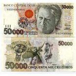 Colección Billetes Brasil Pick número 237 - 50 Cruzeiro 1993