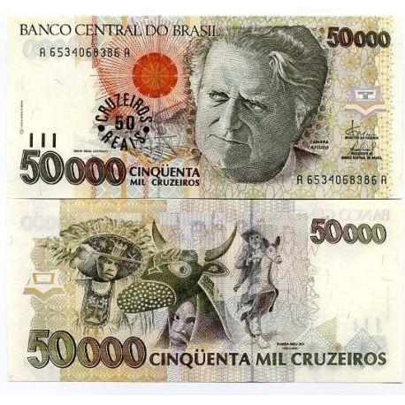 Billets de collection Billets banque Bresil Pk N° 237 - 50 Cruzados Billets du Bresil 6,00 €
