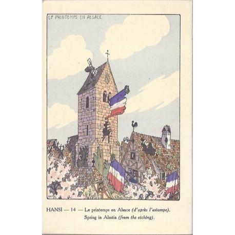 Hansi - 14 - Le printemps en Alsace d'apres l'estampe