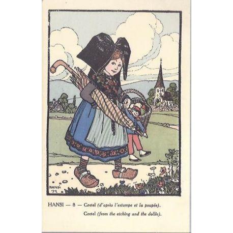 Hansi - 8 - Gretel d'apres l'estampe et la poupee