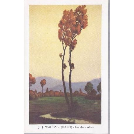 Hansi - Les deux arbres en Alsace - Couleur