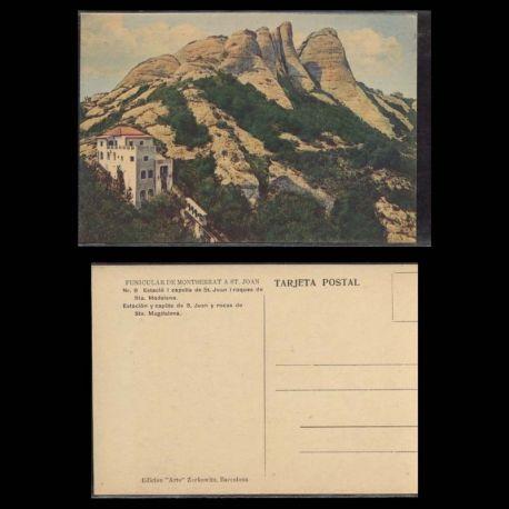 Espagne - Estacio i capella de St Joan i roques de Sta Madalena - Funiculare de Montserrat a St