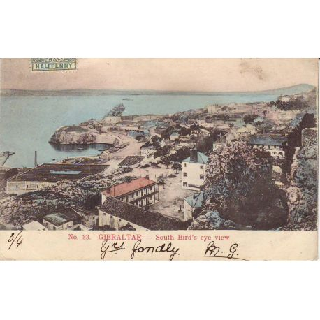 Gibraltar - South Bird's eye view - 1905