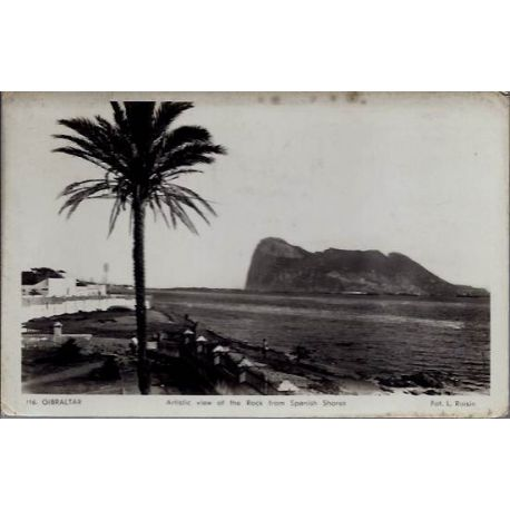 Gibraltar - View of the rock from Spanish Stores