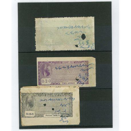 Kalsia - 3 verschiedene Briefmarken