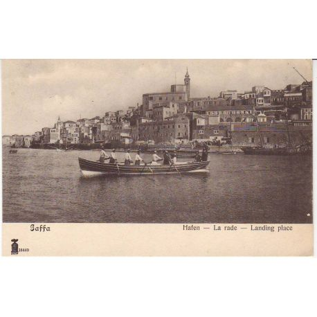 Israel - Jaffa - La rade - Barque - Animee