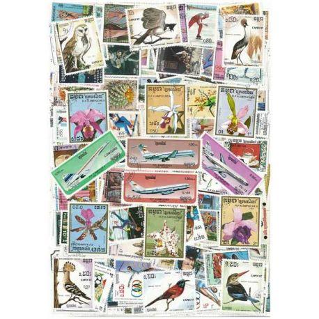 Kambodscha - 50 verschiedene Briefmarken