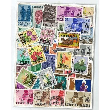 Katanga - 10 verschiedene Briefmarken
