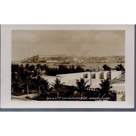 Cuba - Navire d'Entrecasteaux a Cuba 1937