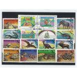 Sammlung gestempelter Briefmarken Kasachstan