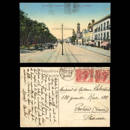 Mexique - Mexico - Avenida hombres ilustres y alameda