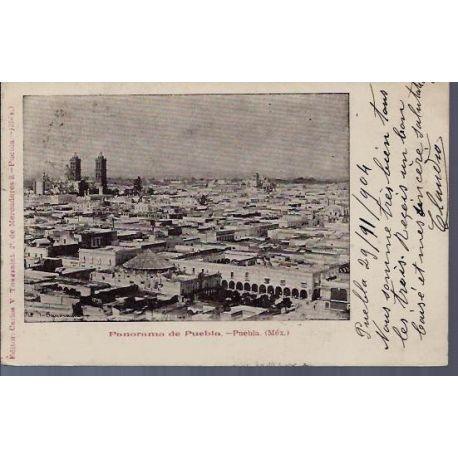 Mexique - Panorama de Puebla - 1904