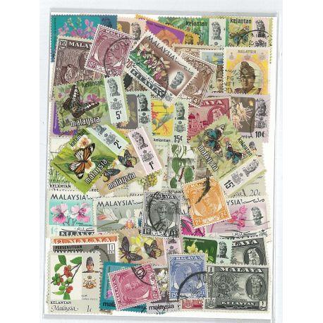 Kelantan - 10 verschiedene Briefmarken