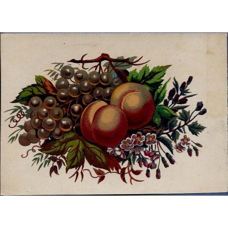 Chromo - Fleurs et fruits II - Bon etat - 9 cm x 13 cm