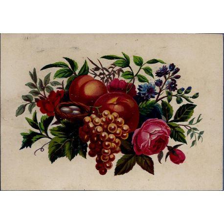 Chromo - Fleurs et fruits IV - Bon etat - 9 cm x 13 cm