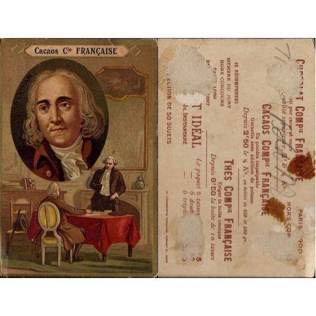 Chromo - Cacaos Compagnie Francaise - Bentham - Trace de colle - 10.5