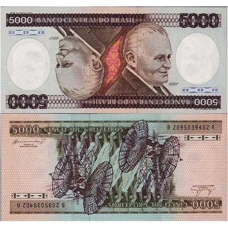 Billet de banque Bresil Pk N° 202 - 5000 Cruzeiros
