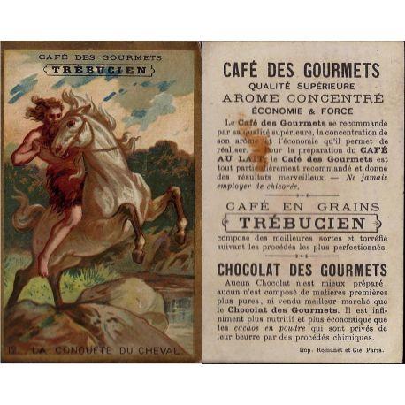 Chromo - Cafe des Gourmets - Trebucien - N° 12 La conquete du cheval -