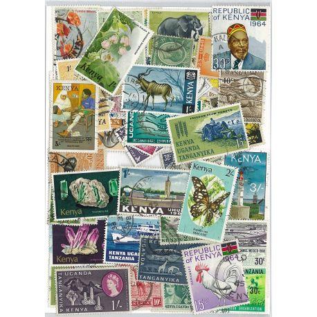Kenia - 25 verschiedene Briefmarken