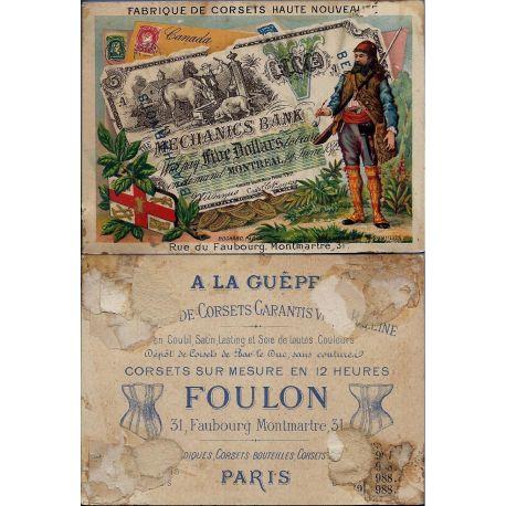 Chromo - A la Guepe - Paris - Canada - Billet de banque - Timbres - Le