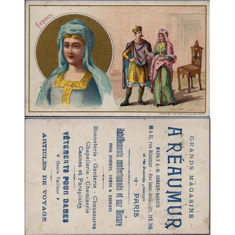 Chromo - A. Reaumur - Les Francs - Bon etat - 6.5 cm x 10.5 cm