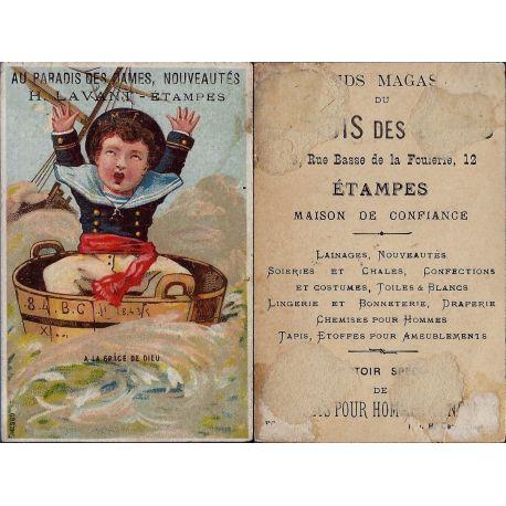 Chromo - Au paradis des Dames - H. Lavant - Etampes - Matelot - A la g