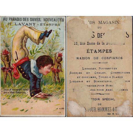Chromo - Au paradis des Dames - H. Lavant - Etampes - Matelot - Fiferl