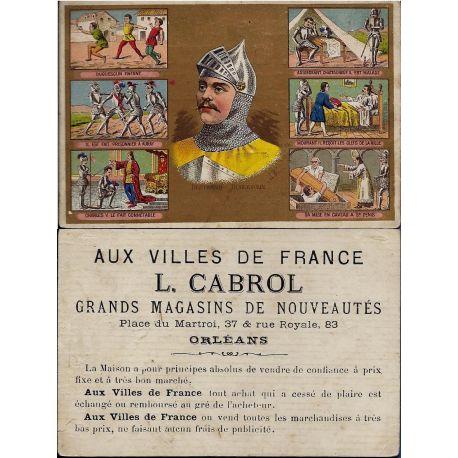Chromo - Aux villes de France - L. Cabrol - Orleans - La vie de Bertra