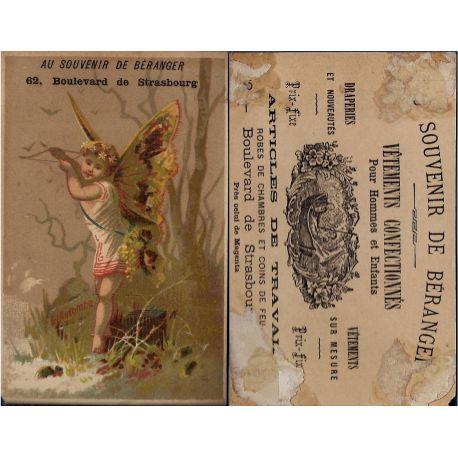 Chromo Au souvenir de Beranger - L'Automne - Paris - Etat moyen - Trac