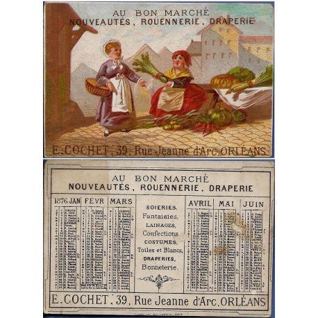 Chromo - Au bon marche - Marchande de legumes - E. Cochet - Orleans -