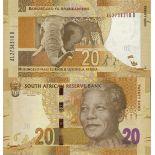 Billets de banque Afrique Du Sud Pk n° 134 - 20 Rands - Nelson Mandela
