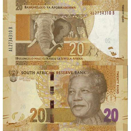 Billets de collection Billets de banque Afrique Du Sud Pk n° 134 - 20 Rands - Nelson Mandela Billets d'Afrique du Sud 8,00 €