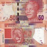 Sammlung von Banknoten Südafrika Pick Nummer 135 - 50 Rand 2013