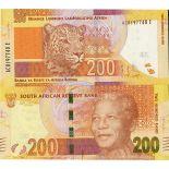 Bello banconote Sudafrica Pick numero 137 - 200 Rand 2013
