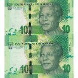 Banconote Sudafrica Pick numero 133 - 10 Rand 2013