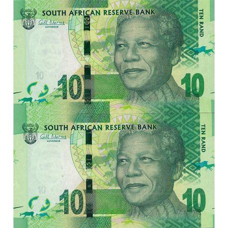 Billets de collection Billets de banque Afrique Du Sud Pk n° 133 - 10 Rands - Nelson Mandela Billets d'Afrique du Sud 4,00 €