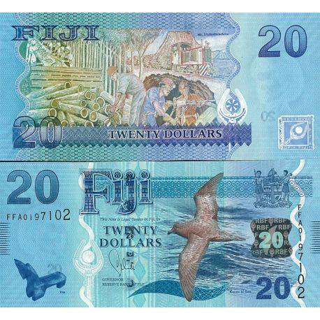 Billets de banque Fidji Pk n° 999 - 20 Dollars