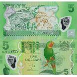 Banknoten Fiji Pick Nummer 115 - 5 Dollar 2013