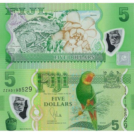 Billets de banque Fidji Pk n° 999 - 5 Dollars
