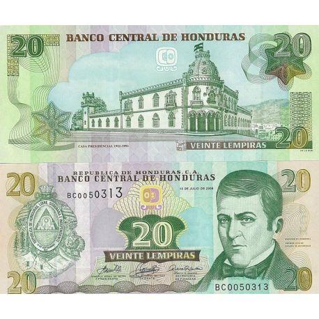 Billets de banque Honduras Pk n° 93 - 20 Lempirass