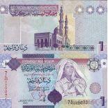 Sammlung von Banknoten Libyen Pick Nummer 71 - 1 Dinar