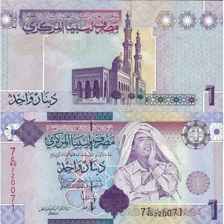 Billets de banque Libye Pk n° 71 - 1 Dinars