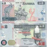 Schone Banknote Sambia Pick Nummer 49 - 2 Kwacha