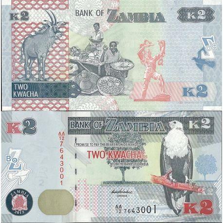 Billets de collection Billets de banque Zambie Pk n° 49 - 2 Kwachas Billets de Zambie 2,00 €